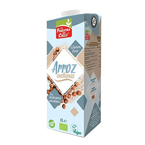 La Finestra Sul Cielo Bebida Vegetal de Arroz con Avellanas - Paquete de 6 x 1000 ml - Total: 6000 ml