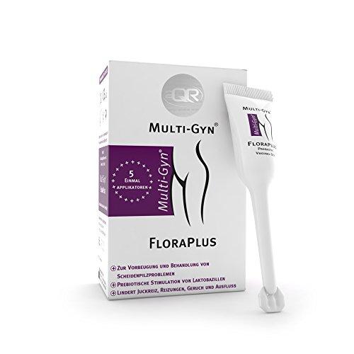 Multi-Gyn FloraPlus zur Behandlung und Vorbeugung von Scheidenpilzinfektionen 5 vordosierte Einmalapplikatoren à 5 ml zur Anwendung in der Scheide