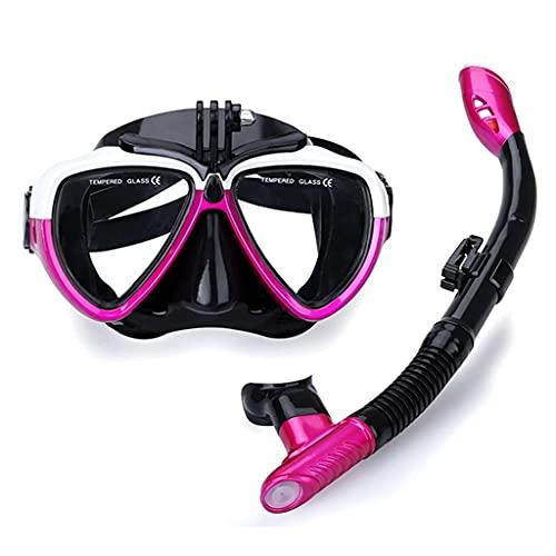 AWJ Máscaras de Buceo Traje de esnórquel Esnórquel seco Unisex Panorámico Multicolor Equipo de esnórquel Gafas de Buceo para Adultos (Color: Amarillo)