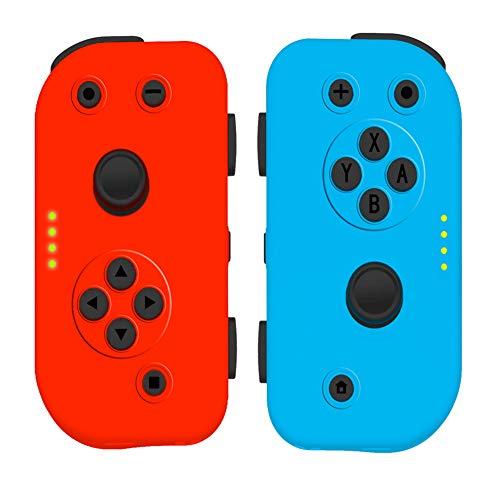 Zero starting point Mobile Gaming Mando, Gamepad Movil Cable Digital, Joysticks Inalambrico por Blueetooth, Gamepad Bluetooth Controlador con Vibración, Joystick para Compatible Switch,Bluered