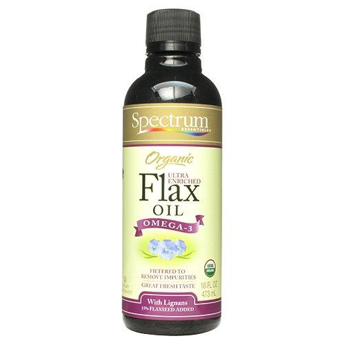 Spectrum Essentials Organic Flax Oil Ultra Enriched, 16 Fluid Ounce