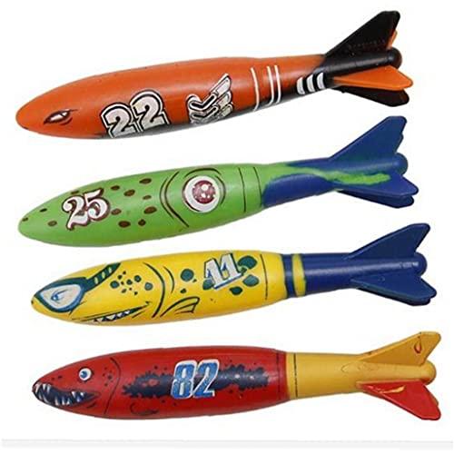 TOSSPER 4pcs Buceo Juguetes De Piscina, Sticks De Buceo Bajo Agua para Niños Divertido Juguetes Nadar