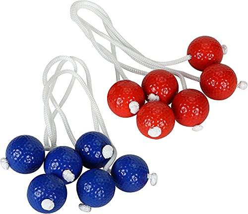 Four Brothers Replacement Bolas for Ladder Toss - Tournament Size Ladder Toss Bola Set - Safety Tested and Tangle Free Bolas (Pack of 6, Golf Ball)