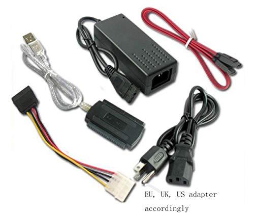 """HaoYiShang USB 2.0 A IDE SATA 2.5 3.5 convertidor de Adaptador de Cable para 3.5""""2.5 HDD/SSD Disco Duro CD/DVD-ROM/CD-RW Combinado de Unidad"""