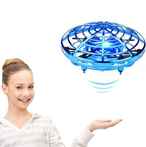 YIQIFEI Drone para niños Scoot Hands Free Mini Drones Helicóptero con luz infrarroja y Juguetes giratorios de 360 Grados para 4-6 años OL (Inteligente)