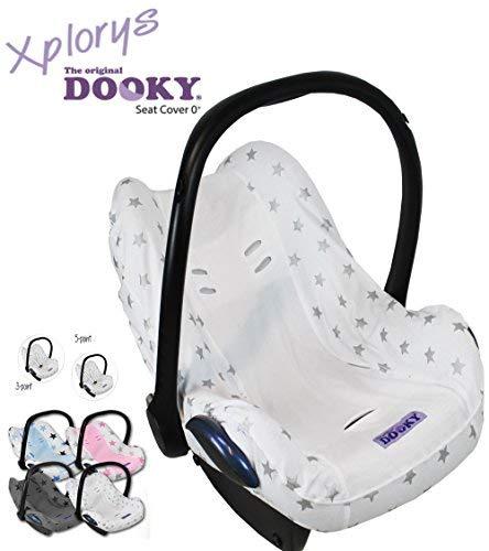 Dooky BabyFit Housse de protection universelle pour harnais 3 et 5 points pour siège bébé Convient par exemple pour Maxi-Cosi, Cybex etc. SILVER STARS
