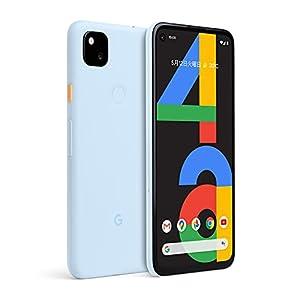 国内SIMフリーGoogle Pixel 4a 128GB [Barely Blue] ブルー スマートフォン本体