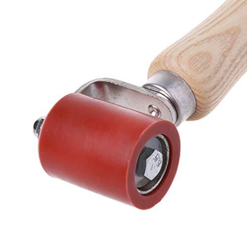 40mm Silikon Andrückrolle Andrückwalze Hochtemperaturbeständiges Handdruck Roller Handdruckrollen für Überdachung Heißluft Heizung PVC Schweißen Werkzeug