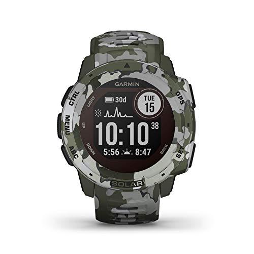 Oferta de Garmin Instinct Solar Camo, Reloj GPS resistente con carga solar - Militar