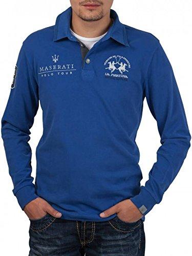 La Martina Polo Maserati Bleu Taille L Manches Longues
