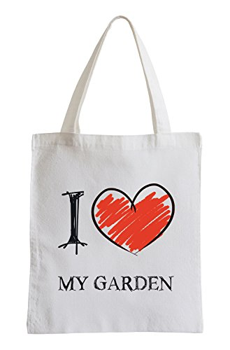 I Love My Garden Fun Sac de Jute