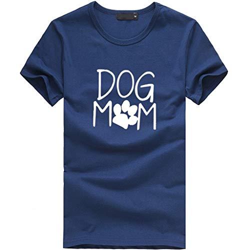 DEELIN Mode Féminine Populaire T-Shirt à Manches Courtes Simple Lettre Imprimée en Vrac Casual T-Shirt O-Cou Tees Top Blouse