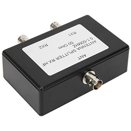 Folany Divisor de Antena ABS, 1‑50 MHz Divisor de Antena Divisor de Cable coaxial de 2 vías Divisor de Antena Divisor de Internet Divisor de televisión por satélite