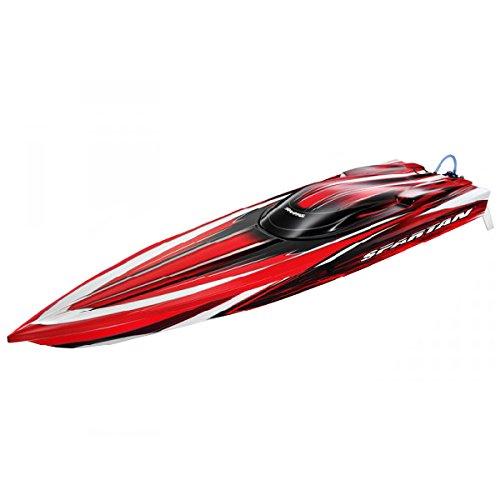 Traxxas TRX57076-3 - Ferngesteuertes Boot Spartan für Erfahrene, rot