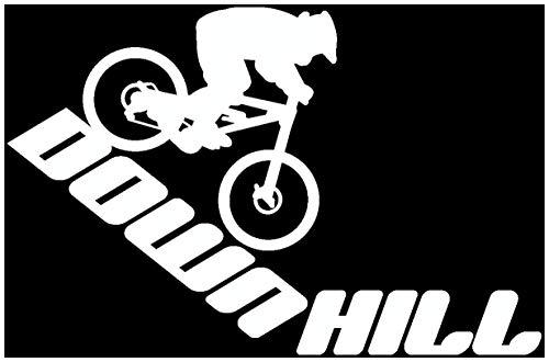 Samunshi® Autoaufkleber Downhill Mountain Bike Aufkleber in 9 Größen und 25 Farben (15x9,8cm weiß)
