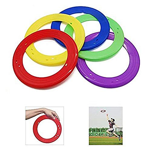 YOFIT 10 Inch Flying Ring with Assorted Colors Set of 5