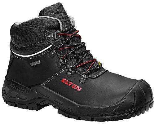 ELTEN Sicherheitsschuhe RENZO GTX Mid ESD S3, Herren, leicht, schwarz, Stahlkappe, Kälteisolierung, Gore-Tex, Wasserdicht, Atmungsaktiv - Größe 44
