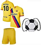 Lionel Messi Barcelona #10 Youth Soccer Jersey Home/Away Short Sleeve Kit Shorts Kids