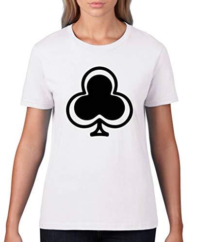 Comedy Shirts T-shirt pour femme à col rond 100 % coton à manches courtes - - S