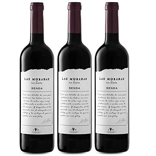 Senda Las Moradas De San Martín Senda - Vino Tinto - Añada 2018 - D.O. Vino De Madrid - Paquete De 3 Botellas - 75 Cl. - Vino Tinto Fresco Y Aromático - Elaborado Con Uva Garnacha - 2250 ml
