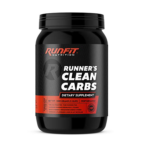Runner's Clean Carbs - Pure Running Fuel - 100% Maltodextrin Boosts Endurance & Energy - Run Faster Longer - Made in The USA!