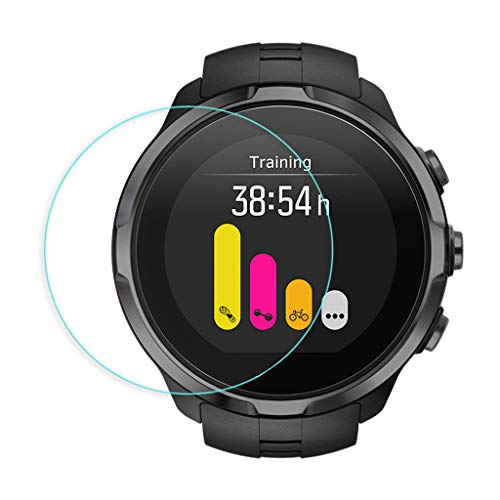 Shan-S 5PCS Clear Ultra Film Tempered Glass Screen Protector for SUUNTO 9 Smart Watch [9H Hardness] [Anti-Fingerprint] [Bubble Free] [Built-in Anti-Shatter Film ]