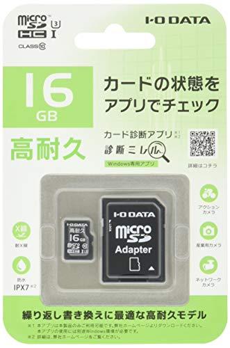 I-O DATA microSDメモリーカード 16GB/UHS-I UHS スピードクラス3 対応/高耐久/MSD-IMA16G