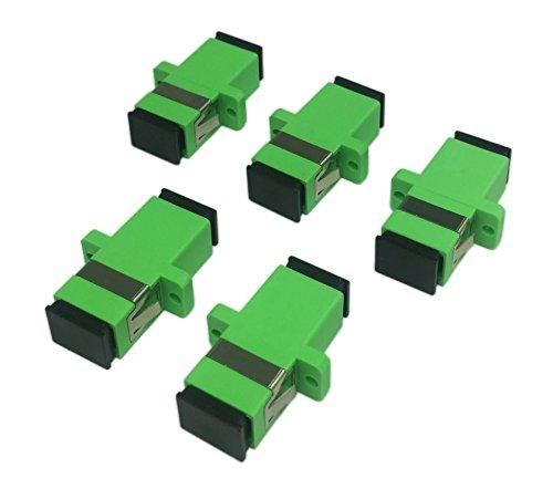Cerrxian SC - Adattatore a fibra ottica monomodale SC femmina a SC femmina APC Simplex a modalità...