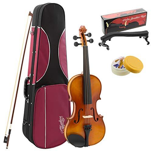 Theodore Kinder Geige für Anfänger (1/2 Größe, massive Fichtendecke)