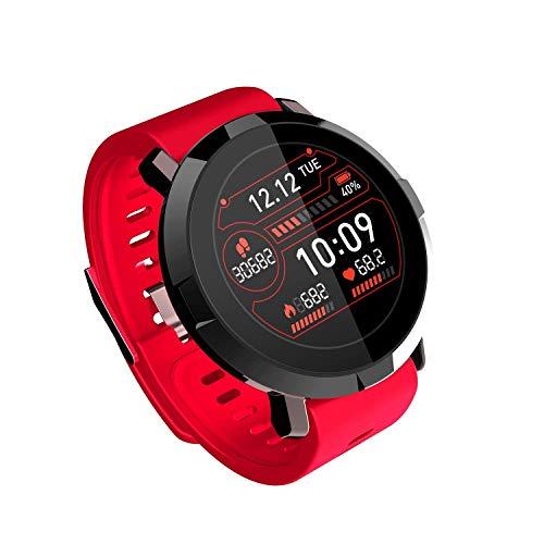 Zfeng Pulsera inteligente de frecuencia cardíaca para hombre y mujer, reloj inteligente deportivo multifunción M29, color rojo