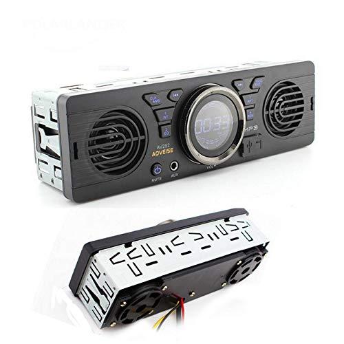 Radio de Coche Bluetooth, Radio de Coche Riloer Reproductor de MP3 con Radio FM Bluetooth con Tarjeta AUX/TF/USB