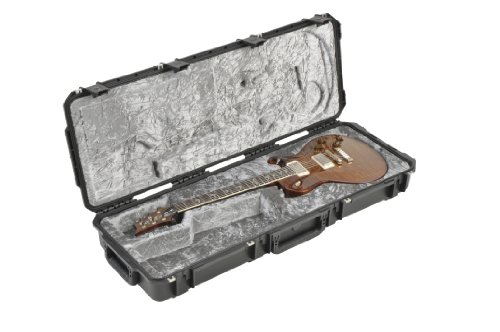 SKB Injection Molded Guitar Case, PRS Shaped Interior, TSA Latches with Wheels (3i-4214-PRS)