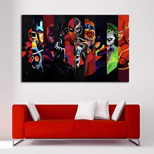 Desconocido Cuadro Lienzo Superheroes Vengadores Marvel Avengers – Varias Medidas - Lienzo de Tela Bastidor de Madera de 3 cm - Impresion Alta resolucion (50, 31)