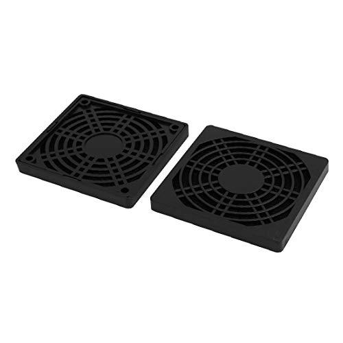 New Lon0167 2 Unids Destacados Ordenador PC Refrigerador eficacia confiable a prueba de polvo Enfriador Cubierta de la caja del ventilador Protector del filtro de polvo 90 x 90 mm(id:5c0 0c 37 eb1)