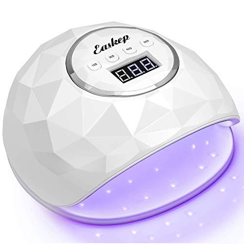 86W Fast Nail Dryer, Easkep UV LED Light Gel Nail Polish Curing Lamp for Professional Salon 4 Timer Setting Auto Sensor for Fingernail and Toenail Machine (2020 NEWEST) (White)