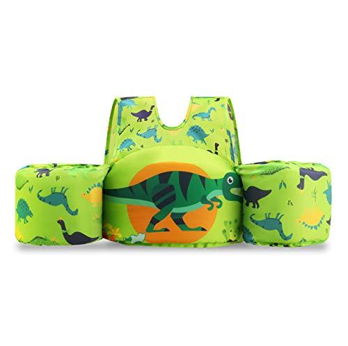 Flowdodo Infant Life Jackets for Kids Baby Swim Float for Toddlers Swim Jacket Vest Green Dinosaur