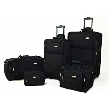 Samsonite 5 Piece Nested Luggage Set, Black