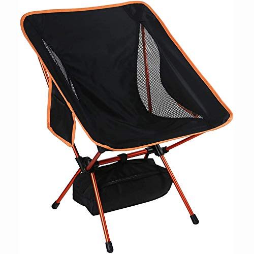 Portable Camping Chair,Compact Folding Backpacking Chairs Lightweight Durable Outdoor Chair with Cup Holder, 150Kg Dynamic Capacity, for Outdoor, Camp, Picnic, Hiking