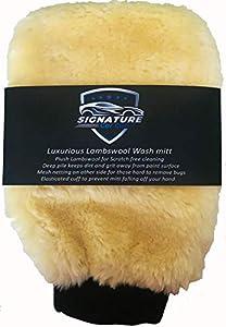 Topteck Signature Lujosa Manopla de lavado de lana de cordero Manopla de lavado de coche con lana (PRECIO DE OFERTA DE INTRODUCTORIO!)