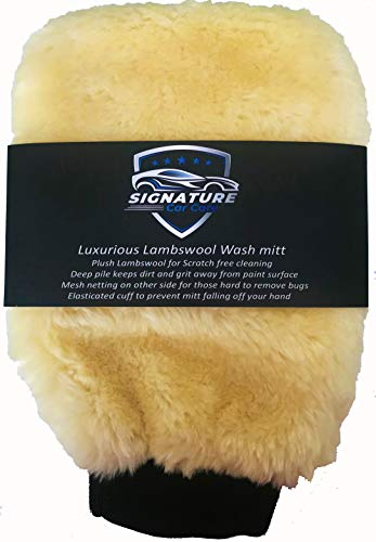 Topteck Signature Luxurious Lambswool Wash Mitt Lambs Wool (SPECIAL INTRODUCTORY OFFER PRICE!)