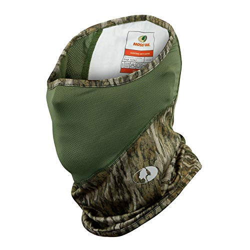 Mossy Oak Camo Turkey Hunting Face Mask, Hunting Neck Gaiter, Bottomland, OSFM