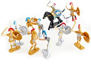 Roman Warriors Figure Playset (10 Warriors w/Shields & Weapons & 2 Horses) (Bagged) by generic