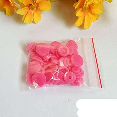 20 colores T5 Botones a presión de 12 mm 30-100set Botones a presión de resina broches de plástico accesorios c Presione Stud Fasteners-NO9,100set