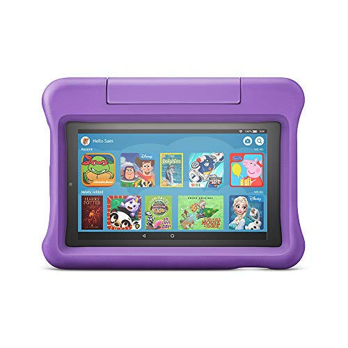 "Fire 7 Kids Edition Tablet | 7"" Display, 16 GB, Purple Kid-Proof Case"
