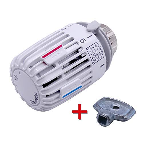 IMI Heimeier Thermostat-Kopf 6000-00.500 mit gratis Heizkörper-Entlüftungsschlüssel by kör4u (1)