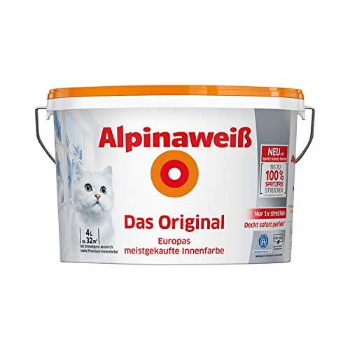 Alpinaweiß DO Spritz-Frei 4 Liter Innenfarbe weiß