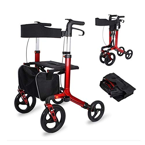 Relaxbx Walking Frame, Compact en Lichtgewicht Roller Walker Opvouwbare Walker voor het beste cadeau voor oudere patiënten en grootouders