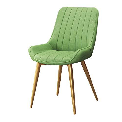 Dining chair Silla de escritorio robusta, simple, respaldo creativo, silla de ocio, estable para el hogar para adultos (color verde)