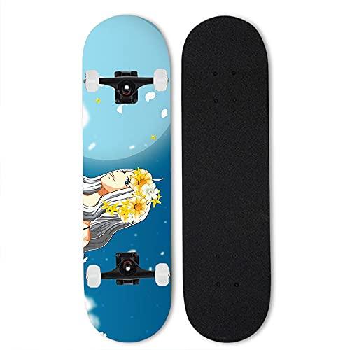 Totots Mirajane.Strauss Skateboards, CUENTO DE HADAS Skateboards de anime, patinetas de doble inclinación, patinetas de arce, patinetas de cuatro ruedas, patinetas al aire libre, patinetas para princi