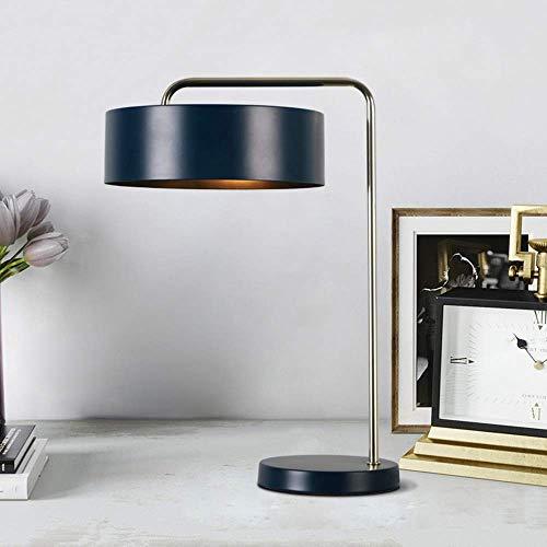 Moderno minimalista retro creativo mesita de noche lámpara metal decorativo lámpara de mesa E14 luz botón lámpara de mesa sala dormitorio estudio oficina